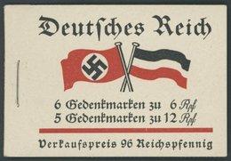 ZUSAMMENDRUCKE MH 32.2.1 **, 1933, Markenheftchen Fridericus Mit Heftchenblatt 75B 1.2!, Pracht - Zusammendrucke