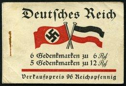 ZUSAMMENDRUCKE MH 32.4 **, 1933, Markenheftchen Fridericus, Ohne Klammer, Eine 6 Pf.-Marke Starker Bug, Feinst, Mi. 250. - Zusammendrucke