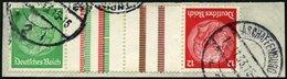 ZUSAMMENDRUCKE KZ 17 BrfStk, 1933, Hindenburg 5 + Z + Z + 12, Prachtbriefstück, Mi. 80.- - Zusammendrucke