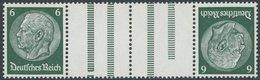 ZUSAMMENDRUCKE KZ 18 **, 1933, Hindenburg 6 + Z + Z + 6, Postfrisch, Pracht, Mi. 60.- - Zusammendrucke