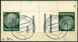 ZUSAMMENDRUCKE KZ 18 BrfStk, 1933, Hindenburg 6 + Z + Z + 6, Prachtbriefstück, Mi. (80.-) - Zusammendrucke