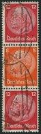 ZUSAMMENDRUCKE S 111 O, 1933, Hindenburg 12 + 8 + 12, Wz. 2, Pracht, Mi. 120.- - Zusammendrucke