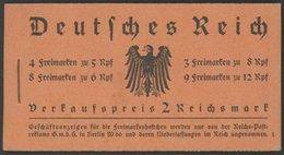 ZUSAMMENDRUCKE MH 33 **, 1933, Markenheftchen Hindenburg, Pracht, Mi. 900.- - Zusammendrucke