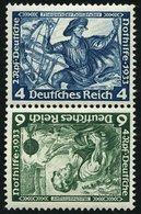 ZUSAMMENDRUCKE SK 19 **, 1933, Wagner Kehrdruck 4 + 6, Normale Zähnung, Pracht, Mi. 120.- - Zusammendrucke