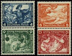 ZUSAMMENDRUCKE SK 19/20 **, 1933, Wagner 4 + 6 Und 8 + 12, Beide Kehrdrucke, Pracht, Mi. 240.- - Zusammendrucke