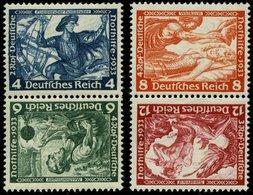 ZUSAMMENDRUCKE SK 19/20 *, 1933, Wagner 4 + 6 Und 8 + 12, Beide Kehrdrucke, Falzrest, Pracht, Mi. 140.- - Zusammendrucke