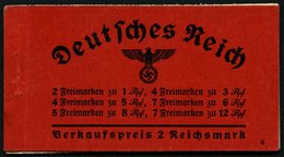 ZUSAMMENDRUCKE MH 36.3 **, 1937, Markenheftchen Hindenburg, Ohne Klammer, Heftchenzähnung, Feinst, Mi. 450.- - Zusammendrucke