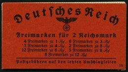 ZUSAMMENDRUCKE MH 39.5 **, 1941, Markenheftchen Hindenburg, Ohne Klammer, Heftchenzähnung, Feinst, Mi. 240.- - Zusammendrucke
