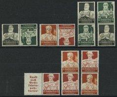 ZUSAMMENDRUCKE A.K 23-S 229 *, 1934, Stände, 7 Verschiedene Werte, Falzreste, Pracht, Mi. 106.- - Zusammendrucke
