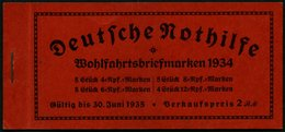 ZUSAMMENDRUCKE MH 40.3 **, 1934, Markenheftchen Stände, H-Blatt 102 Feinst (etwas Angetrennt), Mi. 400.- - Zusammendrucke