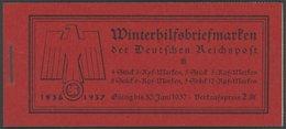 ZUSAMMENDRUCKE MH 43.3 **, 1936, Markenheftchen W.H.W., Klammer 19 Mm, Unbedruckt, Pracht, Mi. 200.- - Zusammendrucke