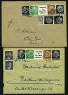 ZUSAMMENDRUCKE A. K 12 -W 157 O,Brief , 1928-41, Gestempelte Partie Verschiedener Zusammendrucke Mit Mittleren Werten, F - Zusammendrucke