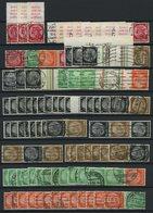 ZUSAMMENDRUCKE A. S 102-154 O, Kleine Gestempelte Dublettenpartie Zusammendrucke Von 1933-39, Feinst/Pracht, Mi. 1280.- - Zusammendrucke
