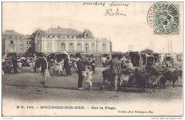 BOULOGNE  SUR MER - Sur La Plage - Chèvres Devant Le Casino - B.B 184 - Boulogne Sur Mer