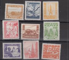 BOLIVIA  - 1938- SET OF 9 MINT NEVER HINGED - Bolivia