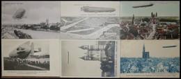 ALTE ANSICHTSKARTEN 1908, Zeppelins Fernfahrt Friedrichshafen - Echterdingen, 6 Verschiedene Sonderkarten, Gebraucht Und - Aviation