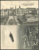 ALTE ANSICHTSKARTEN 1907, LZ 3, 2 Verschiedene Ansichtskarten Vom 30. Und 31. Dez. (1x Dez. Kopfstehend), Pracht - Aviation