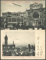 ALTE ANSICHTSKARTEN 1908, LZ 4, Schweizfahrt Nach Zürich, 2 Verschiedene Ansichtskarten, Gebraucht, Pracht - Aviation