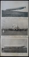 ALTE ANSICHTSKARTEN 1909, LZ 5 (Z II-Ersatz), 3 Verschiedene Serienkarten Der Unfallstelle In Göppingen, Eine Ungebrauch - Aviation