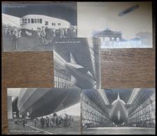 ALTE ANSICHTSKARTEN 1924, LZ 126, 5 Verschiedene Ungebrauchte Fotokarten Der Nicht Nummerierten Serie, U.a. Mit ZR 3 übe - Aviation