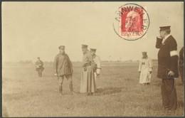 ALTE ANSICHTSKARTEN 1913, Prinz-Heinrich-Flug, Original-Fotokarte Von Der Zwischenlandung Auf Dem Flugplatz Lilienthal,  - Aviation