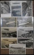 ALTE ANSICHTSKARTEN 1928/39, Zeppelin Werft- Und Schiffsbesichtigung: 5 Gebrauchte Eintrittskarten, Dazu 10 Bildkarten M - Aviation