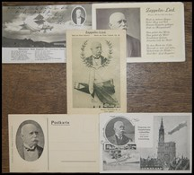ALTE ANSICHTSKARTEN 1914/31, 5 Verschiedene Zeppelin-Liederkarten, 3 Ungebraucht, Pracht - Aviation