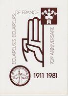Eclaireurs De France 70eme Anniversaire 1911-1981 - Scoutismo