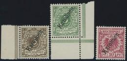 KAROLINEN 1-3II **, 1900, 3 - 10 Pf. Steiler Aufdruck, Postfrisch, 3 Prachtwerte, Mi. 160.- - Kolonie: Karolinen