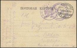DT. FP IM BALTIKUM 1914/18 K.D. FELDPOSTEXP. DES OBERKOMMANDOS DER 9. ARMEE * A, 19.10.15, Auf Karte Von Homin Nach Berl - Latvia