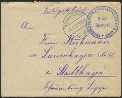 LETTLAND 2213I BRIEF, K.D. FELDPOSTSTATION NR. 280 **, Type I, 1.1.17, Auf Feldpostbrief Von Wainoden Nach Stadthagen, M - Latvia