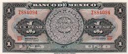 MEXICO 1 PESO 1970  P-59l2   UNC  Serie Z 884094 - Messico