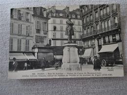 PARIS_Rue Saint Antoine_Statue De CARON De BEAUMARCHIS_plan Peu Commun - Arrondissement: 04