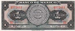 MEXICO 1 PESO 1970  P-59.l2   UNC  Serie Q 572411 - Messico