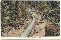 Malaysia (Malacca) – No. 147 – Pipe Line For Hydraulic Mining – Penang – Year Circa 1920 - Malaysia