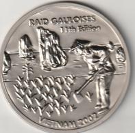 *** RARE  Médaille RAID GAULOISE VIET NAM - 2002 - 105gr 10cm - Automobilismo - F1
