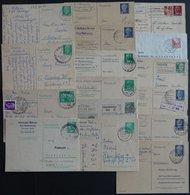 GANZSACHEN Aus P 41-79 BRIEF, 1951-73, 15 Verschiedene Gebrauchte Ganzsachenkarten Und Ein Faltbrief, Meist Prachterhalt - [6] Democratic Republic