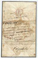 MARQUE CONQUIS DEB MONTMELIAN 1809 SAVOIE LETTRE DE PARMA RARE - Postmark Collection (Covers)