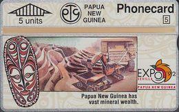 Papua New Guinea - PNG-013d - Expo'92 - Mineral Wealth - 306D -mint - Papouasie-Nouvelle-Guinée