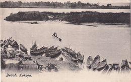 NIGERIA 1910    CARTE  POSTALE DE LOKOJA  THE BEACH - Nigeria