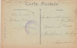 Croix Rouge Cachet Hôpital Mixte Chaumont Le Vaguemestre - Marcophilie (Lettres)