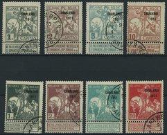 BELGIEN 81-88III O, 1911, Nationalfond, Prachtsatz, Mi. 75.- - 1910-1911 Caritas