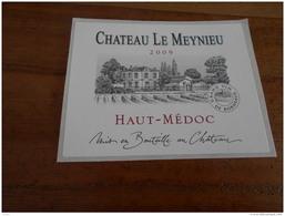 ETIQUETTE CH. LE MEYNIEU 2009 HAUT-MEDOC - Bordeaux