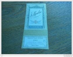 ETIQUETTE CH. LE MOULIN 2001 POMEROL - Bordeaux
