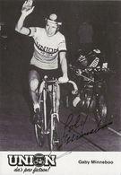 CARTE CYCLISME GABY MINNEBOO SIGNEE TEAM UNION 1979 - Wielrennen