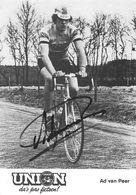 CARTE CYCLISME AD VAN PEER SIGNEE TEAM UNION 1979 - Wielrennen