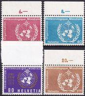 SCHWEIZ 1973 Mi-Nr. WMO 10/13 ** MNH - Dienstpost