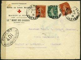 FRANKREICH FELDPOST 1915, Vordruckbrief Des Französischen Roten Kreuzes Aus Dem Hospital Der Sociètè Française De Secour - Commemorative Labels