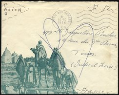 FRANKREICH 1956, K1 POSTE AUX ARMEES/A.F.N. Auf Feldpostbrief F.M. Nach Frankreich, Pracht - Guerra De Argelia
