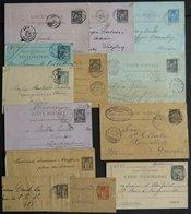 GANZSACHEN 1879-1890, 13 Meist Verschiedene Gebrauchte Ganzsachen, Einige Bessere, Etwas Unterschiedlich - Enteros Postales
